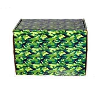 """Подарочная коробка """"камуфляж"""" 17*12*12 см"""